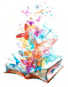 beautiful butterflies fly out of the pages